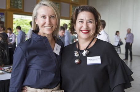 QLD Co Chairs Rachel Towill and Katerina Dracopoulos at the MTLS screening