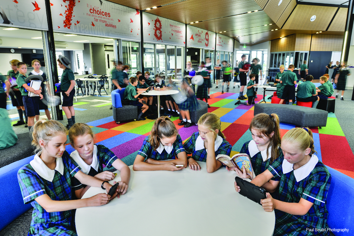 Collaborative Learning In A Classroom ~ St luke s anglican school middle building